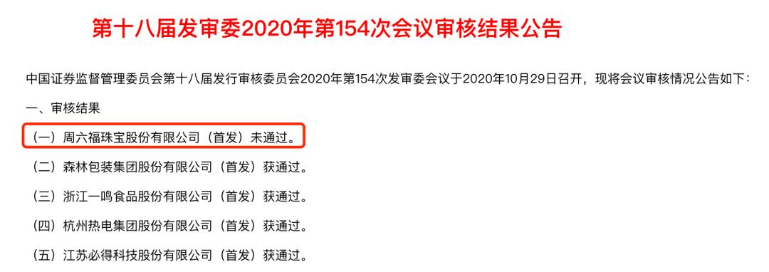 周六福梦碎A股IPO!曾被葛优、香奈儿告上法庭,业绩高度依赖加盟店